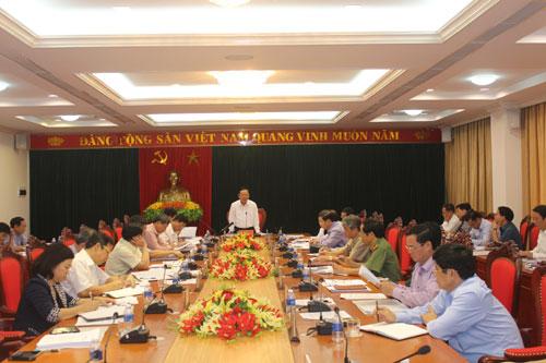 Ban Thường vụ Tỉnh ủy: Cho ý kiến một số vấn đề quan trọng của tỉnh