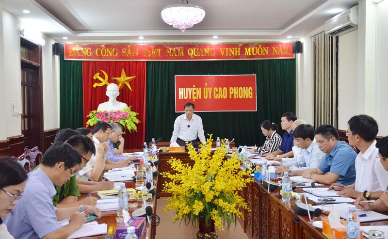 Kiểm tra thực hiện các chỉ tiêu Nghị quyết Đại hội Đảng bộ tỉnh lần thứ XVI tại huyện Cao Phong
