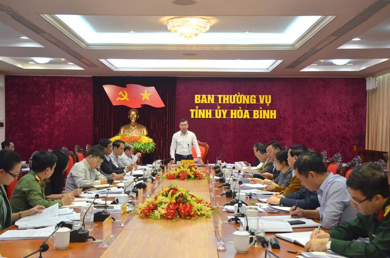 Ban Thường vụ Tỉnh ủy cho ý kiến những nội dung quan trọng phát triển KT-XH