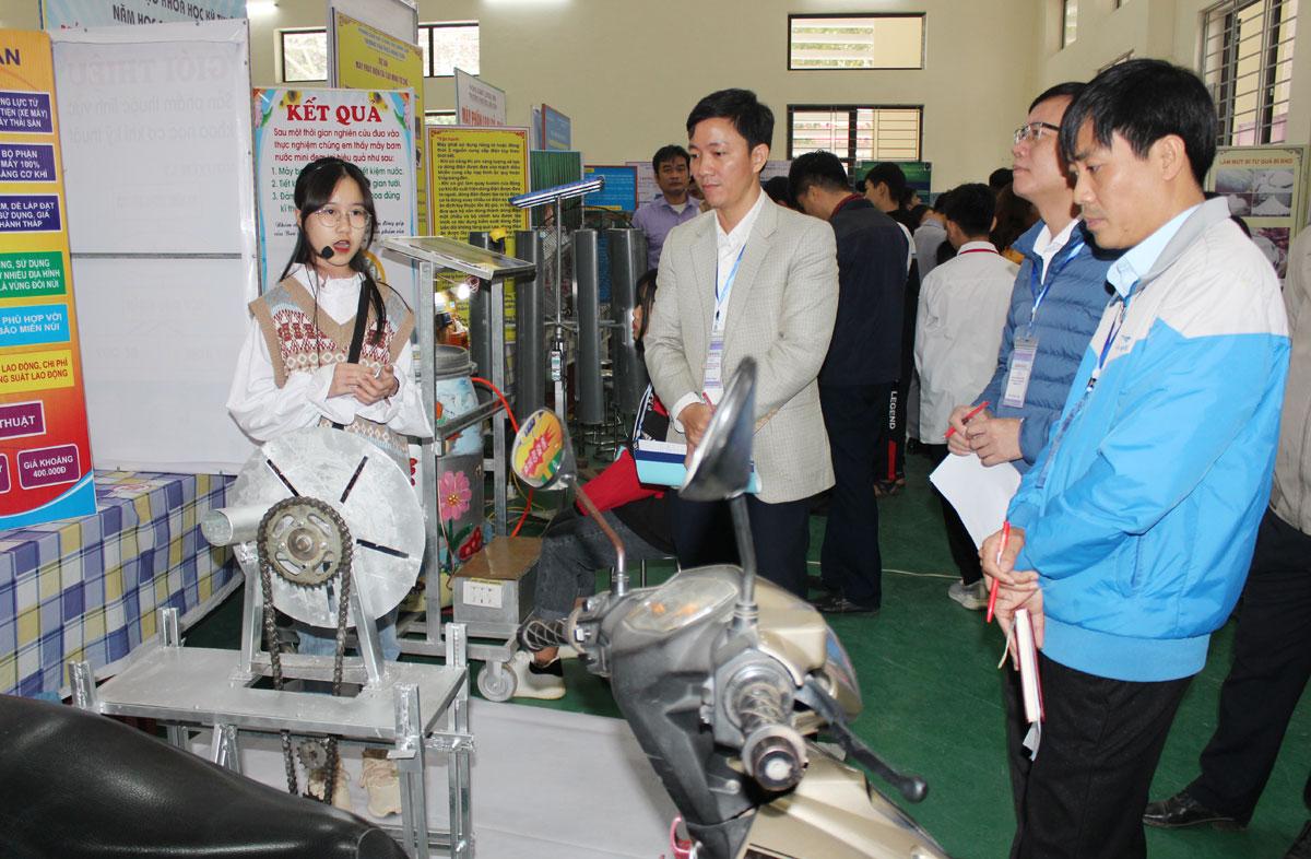 93 dự án tham dự cuộc thi Khoa học Kỹ thuật dành cho học sinh trung học tỉnh năm học 2020 - 2021