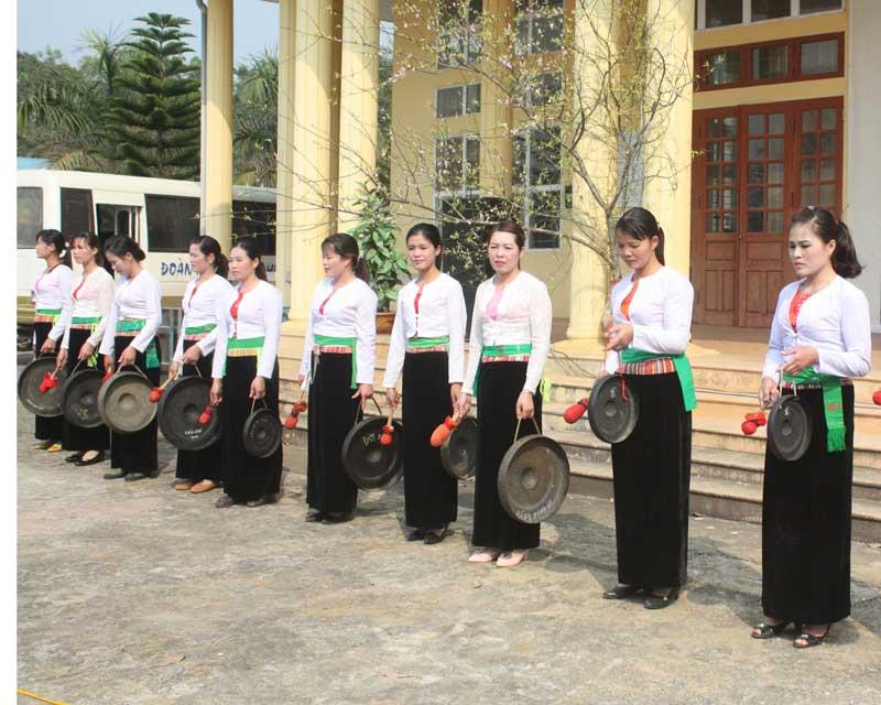 Âm vang tiếng chiêng trong các lễ hội tại Mường Thàng