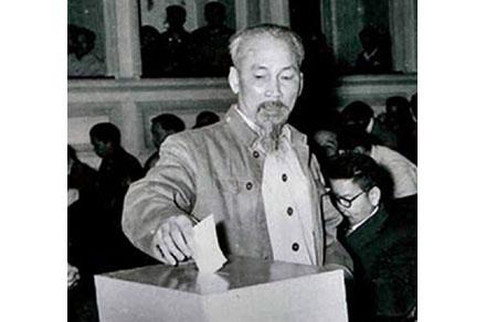Chủ tịch Hồ Chí Minh với cuộc bầu cử Quốc hội đầu tiên, trách nhiệm của công dân đối với cuộc bầu cử quốc hội khóa XV và Hội đồng nhân dân các cấp, nhiệm kỳ 2021-2026