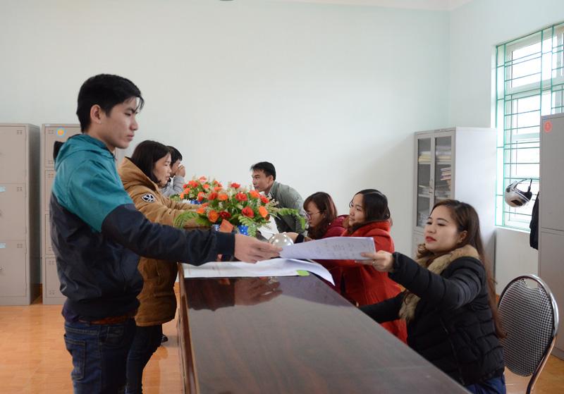 Xã Hợp Phong ổn định bộ máy sau sáp nhập