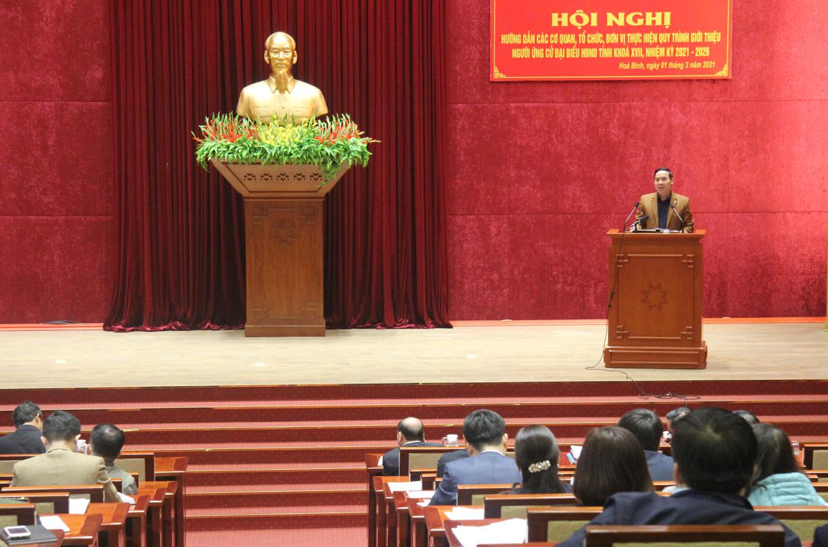 Hướng dẫn thực hiện quy trình giới thiệu người ứng cử đại biểu HĐND tỉnh khóa XVII