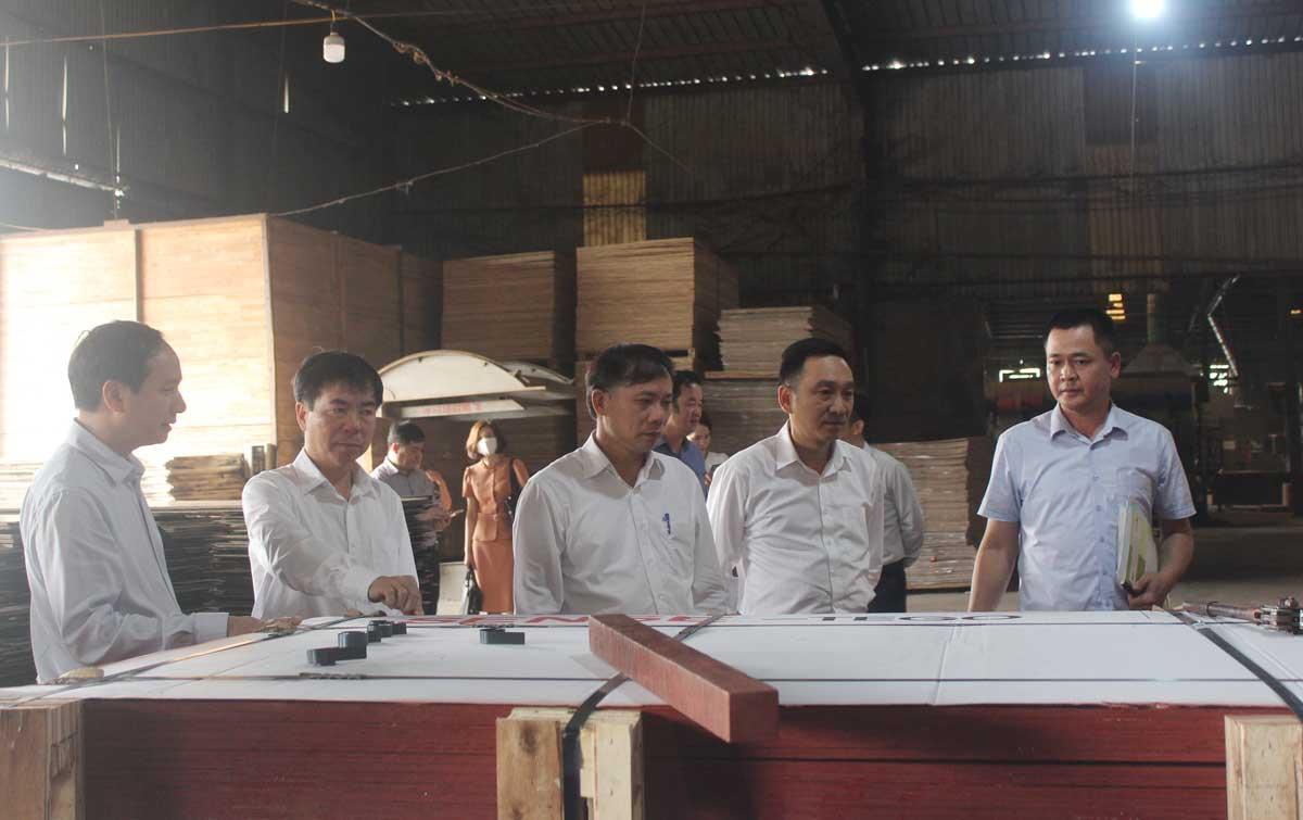Chủ tịch UBND tỉnh Bùi Văn Khánh thăm, kiểm tra tình hình sản xuất tại một số doanh nghiệp ở TP Hòa Bình