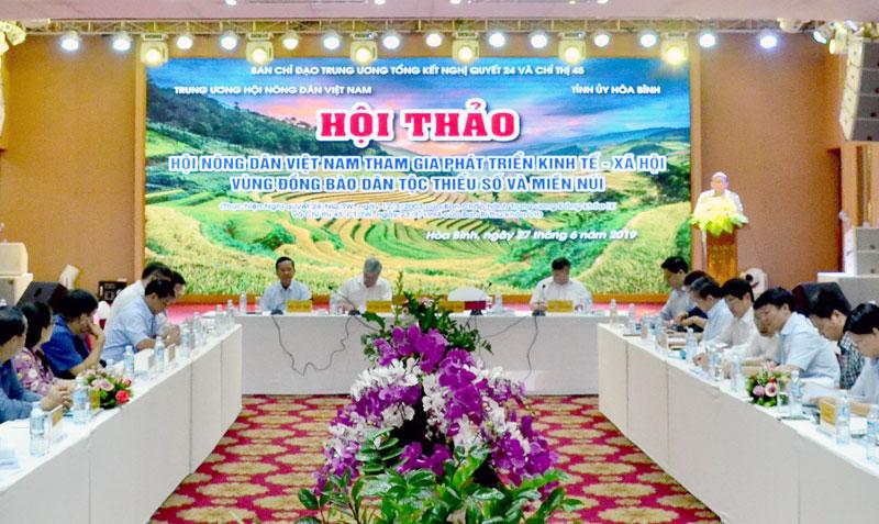 """Hội thảo """"Hội Nông dân Việt Nam tham gia phát triển KT- XH vùng đồng bào DTTS và miền núi"""" tại tỉnh ta"""