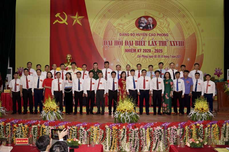 Đại hội đại biểu Đảng bộ huyện Cao Phong lần thứ XXVIII, nhiệm kỳ 2020-2025 thành công tốt đẹp