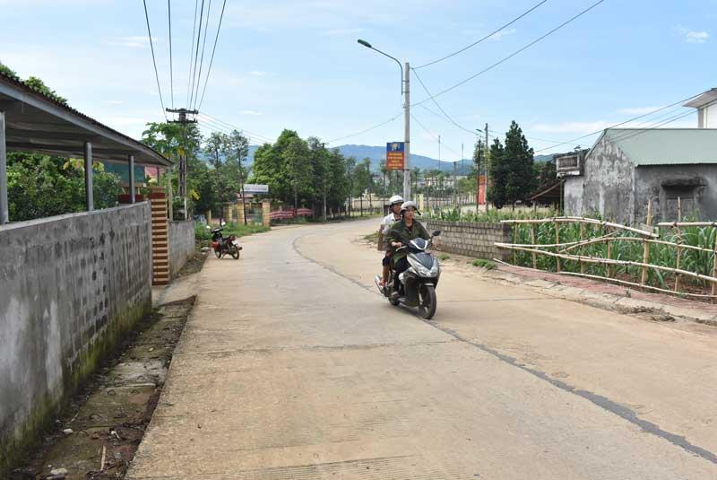Ghi ở xã nông thôn mới Tây Phong