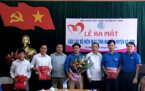 Ra mắt CLB hiến máu tình nguyện huyện Kỳ Sơn