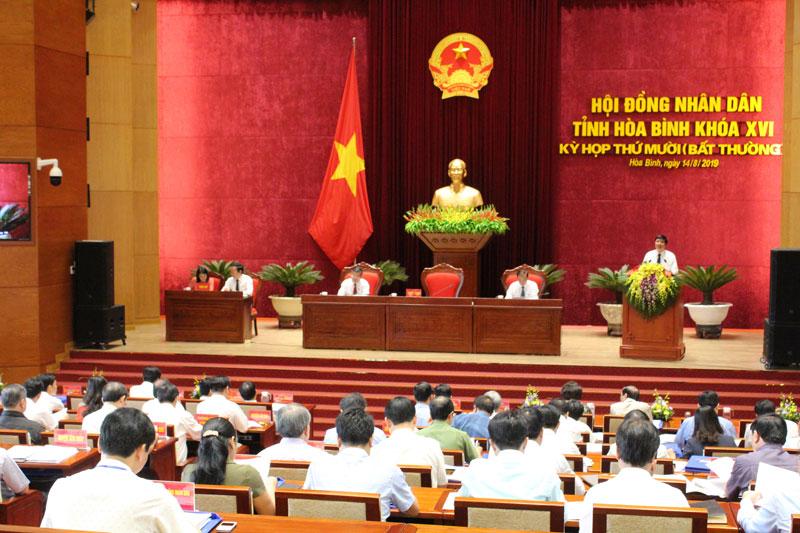 Kỳ họp thứ 10 (Kỳ họp bất thường), HĐND tỉnh khóa XVI: Thông qua 11 Nghị quyết quan trọng