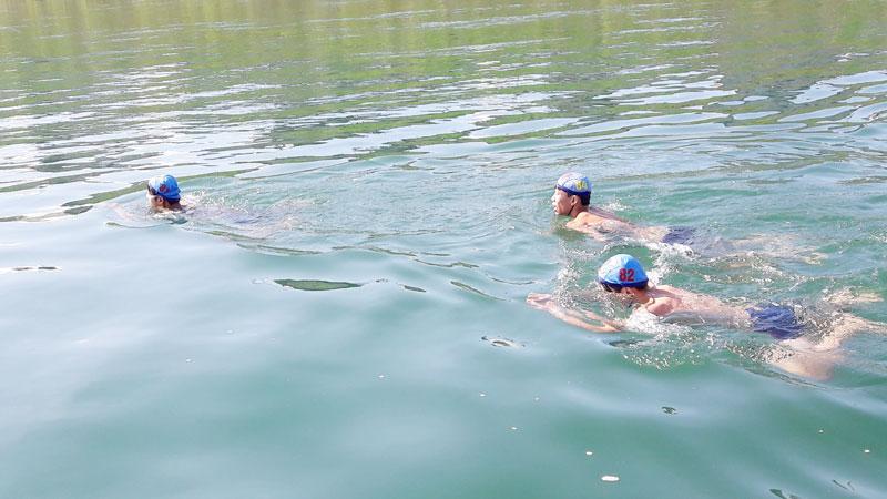 Xã Kim Bôi phát triển môn bơi
