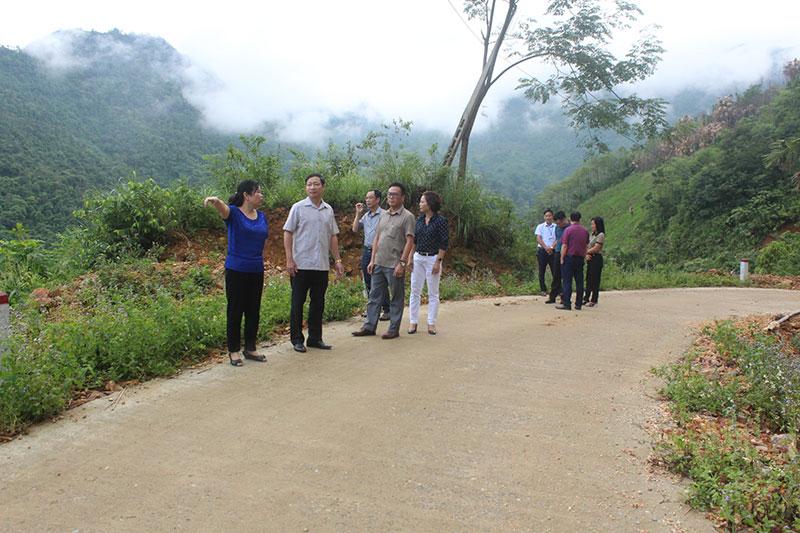 Kiểm tra Chương trình mục tiêu quốc gia giảm nghèo bền vững huyện Đà Bắc