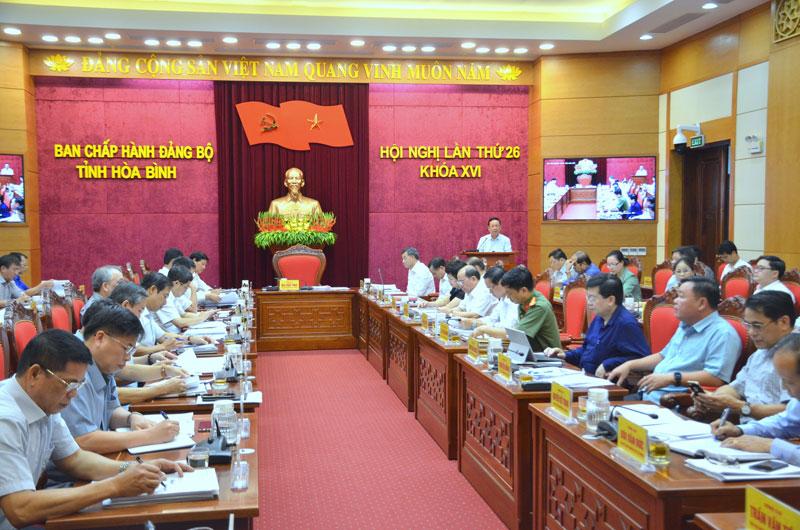 Hội nghị Ban Chấp hành Đảng bộ tỉnh lần thứ 26, khóa XVI: Chuẩn bị thật tốt để tổ chức thành công Đại hội Đảng bộ tỉnh lần thứ XVII