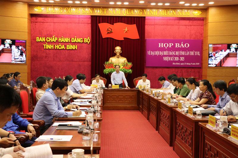 Đại hội đại biểu Đảng bộ tỉnh lần thứ XVII, nhiệm kỳ 2020 -2025 diễn ra từ ngày 1 - 3/10/2020