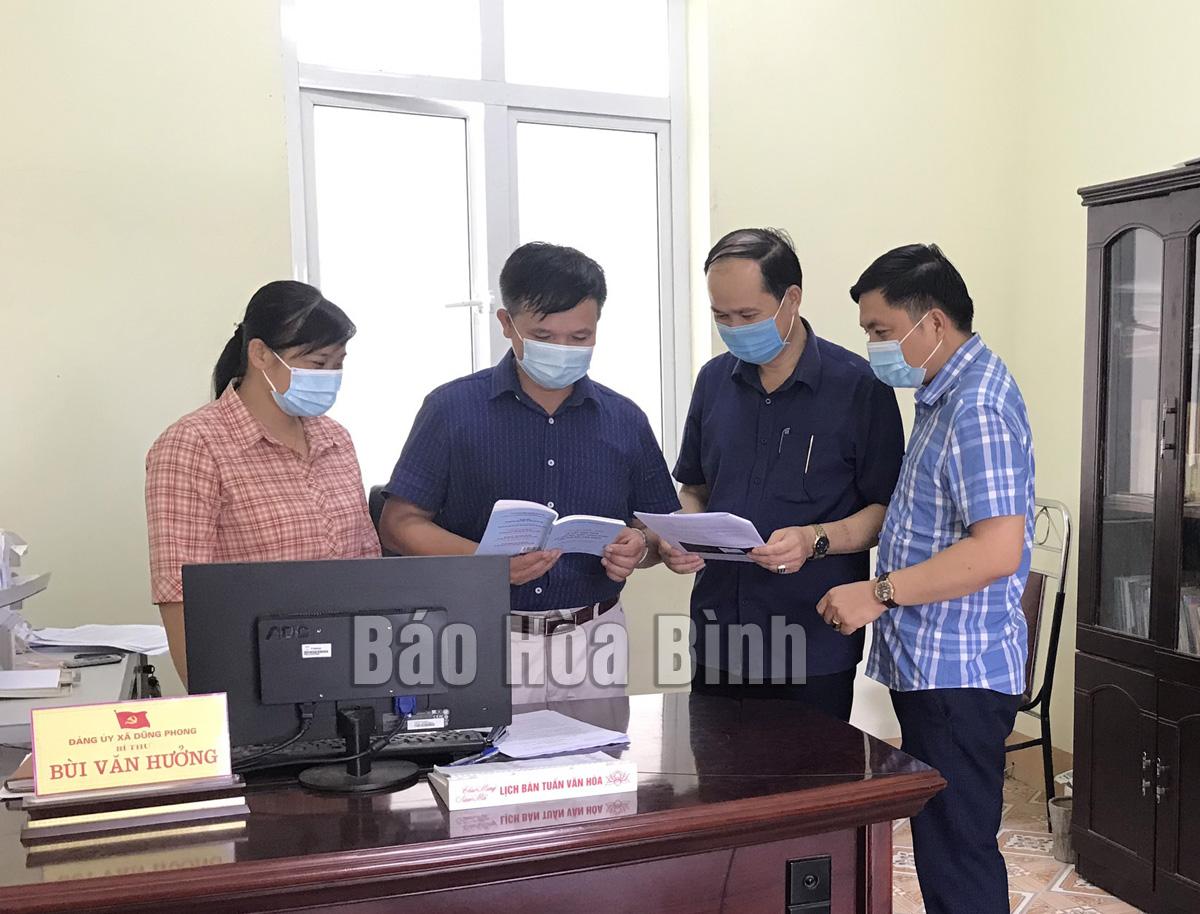 Huyện Cao Phong: Hiệu quả công tác kiểm tra, giám sát của Đảng