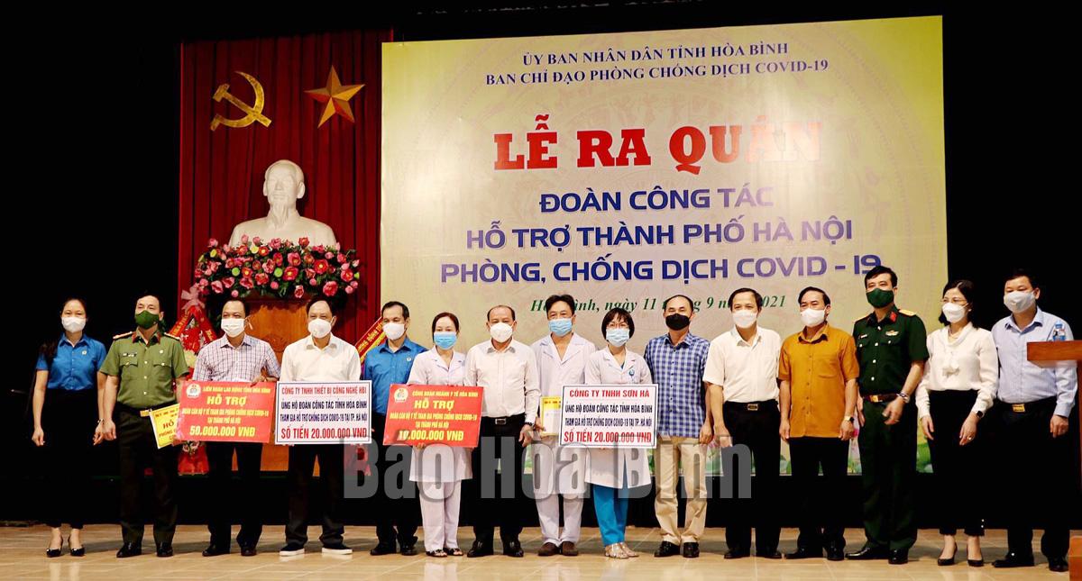 300 y, bác sỹ tỉnh ta lên đường hỗ trợ thành phố Hà Nội chống dịch Covid-19
